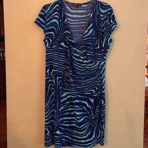Jones New York faux wrap dress 2x